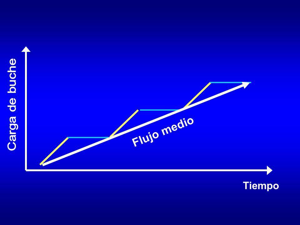 Tiempo Flujo medio