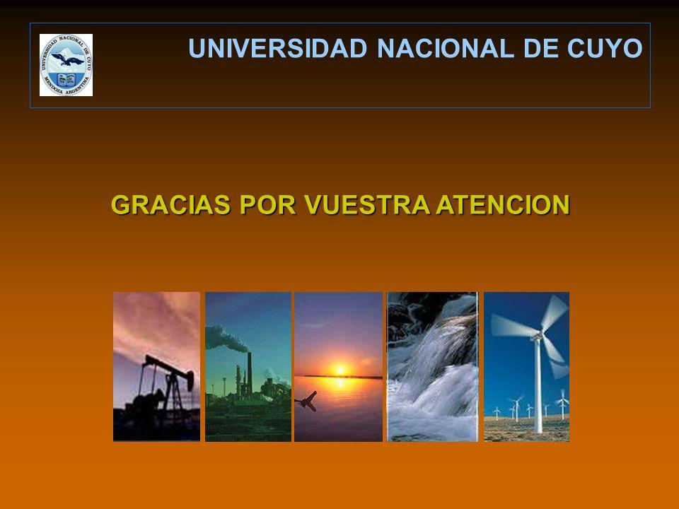 UNIVERSIDAD NACIONAL DE CUYO GRACIAS POR VUESTRA ATENCION