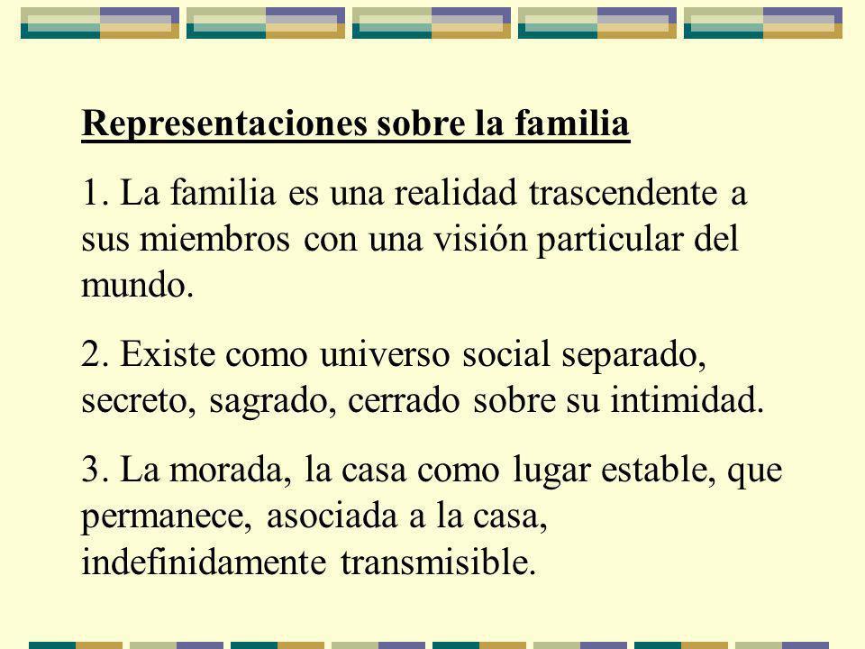 Representaciones sobre la familia 1.