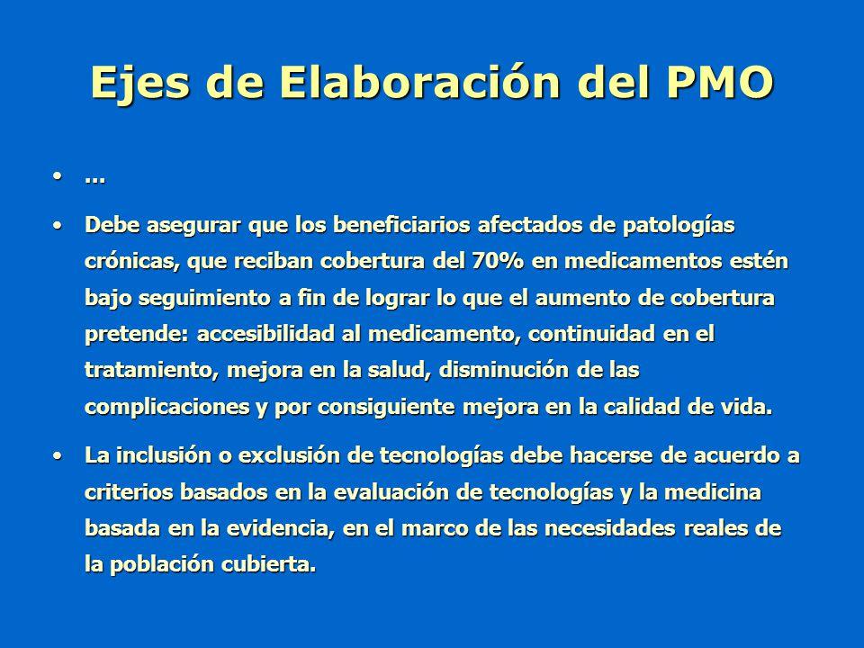 ...... Debe asegurar que los beneficiarios afectados de patologías crónicas, que reciban cobertura del 70% en medicamentos estén bajo seguimiento a fi
