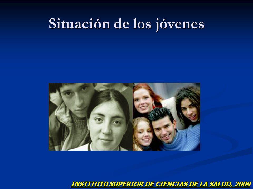 Situación de los jóvenes INSTITUTO SUPERIOR DE CIENCIAS DE LA SALUD, 2009