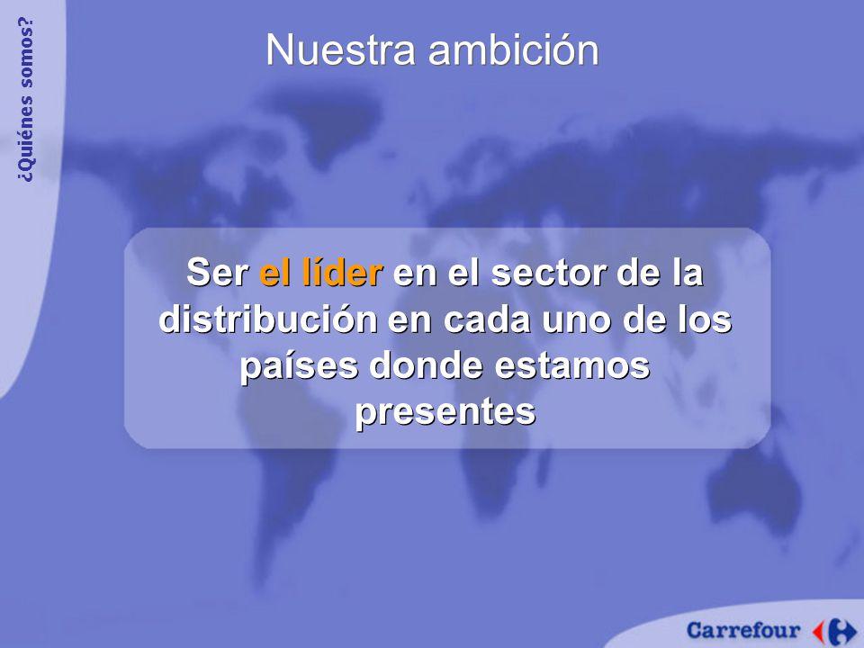 Nuestra ambición Ser el líder en el sector de la distribución en cada uno de los países donde estamos presentes ¿Quiénes somos?