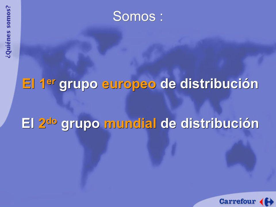 El 1 er grupo europeo de distribución El 2 do grupo mundial de distribución El 1 er grupo europeo de distribución El 2 do grupo mundial de distribución Somos : ¿Quiénes somos?