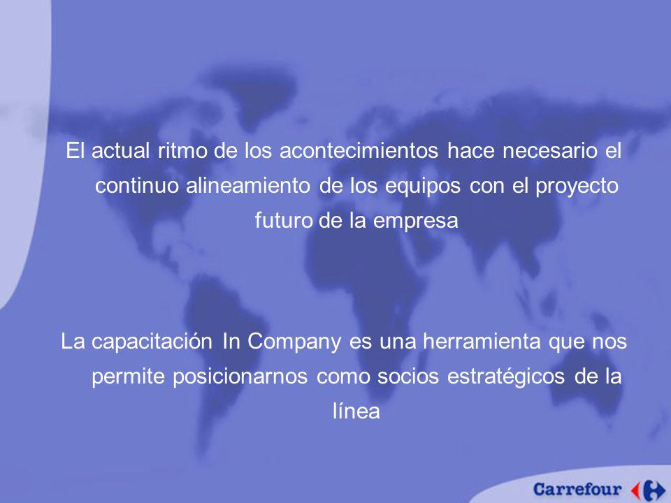 El actual ritmo de los acontecimientos hace necesario el continuo alineamiento de los equipos con el proyecto futuro de la empresa La capacitación In Company es una herramienta que nos permite posicionarnos como socios estratégicos de la línea