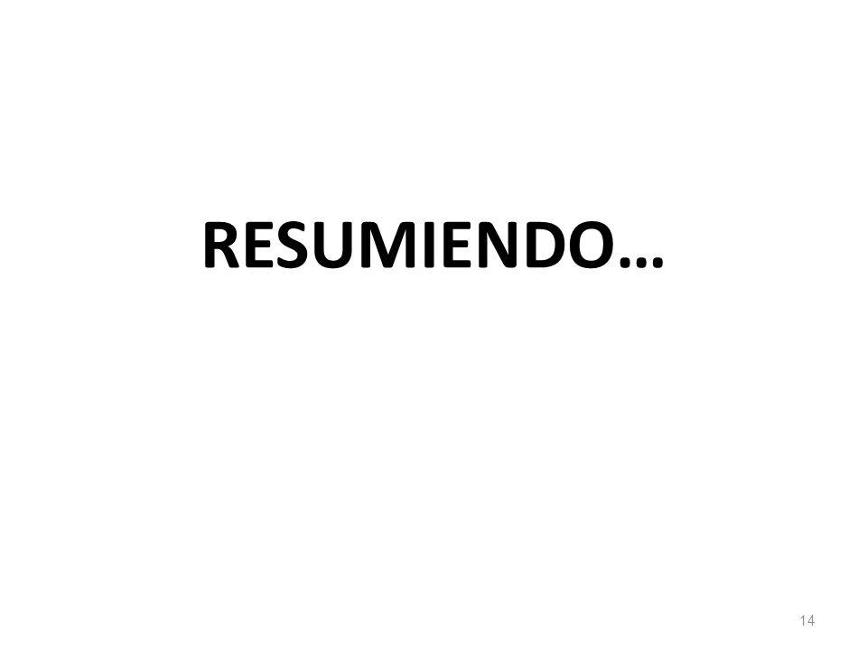 RESUMIENDO… 14