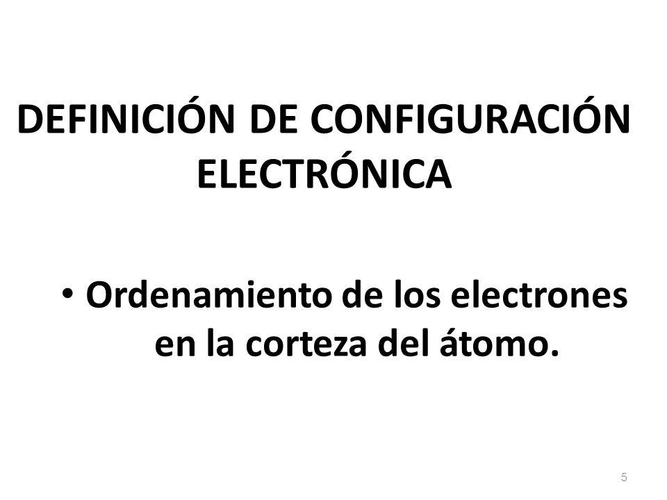 REGLAS PARA ORDENAR LOS ELECTRONES EN LA CORTEZA DEL ÁTOMO 6