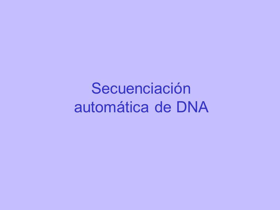 Secuenciación automática de DNA