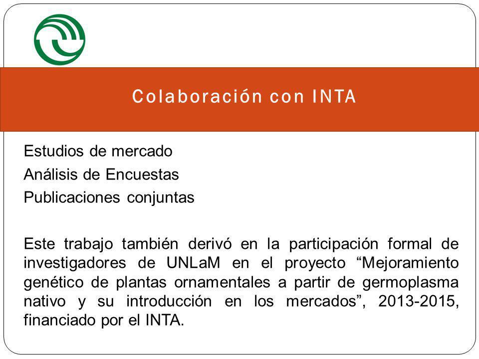 Estudio de Mercado Conocer características del consumo de plantas y flores, y de los consumidores ¿Qué consumen.