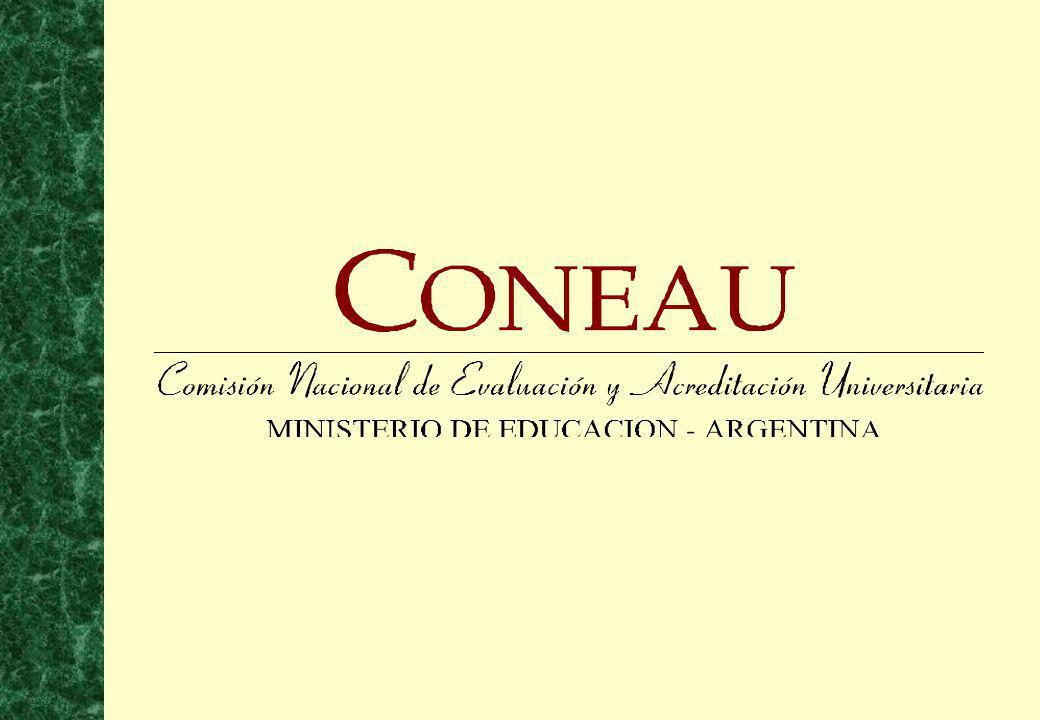 12 El Equipo Técnico permanente de la CONEAU está compuesto por profesionales universitarios, expertos en la elaboración de procedimientos y técnicas de evaluación, bajo la coordinación de tres Directores.
