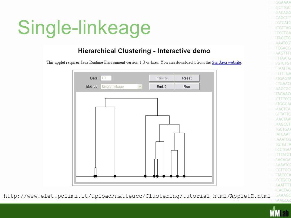 Single-linkeage http://www.elet.polimi.it/upload/matteucc/Clustering/tutorial_html/AppletH.html