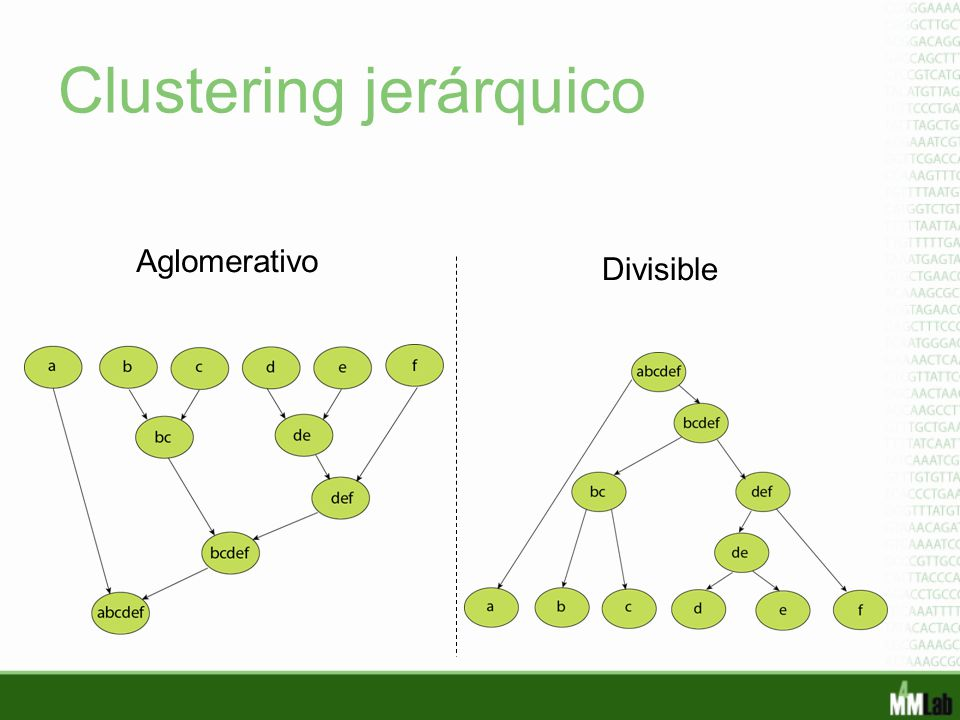 Clustering jerárquico Aglomerativo Divisible