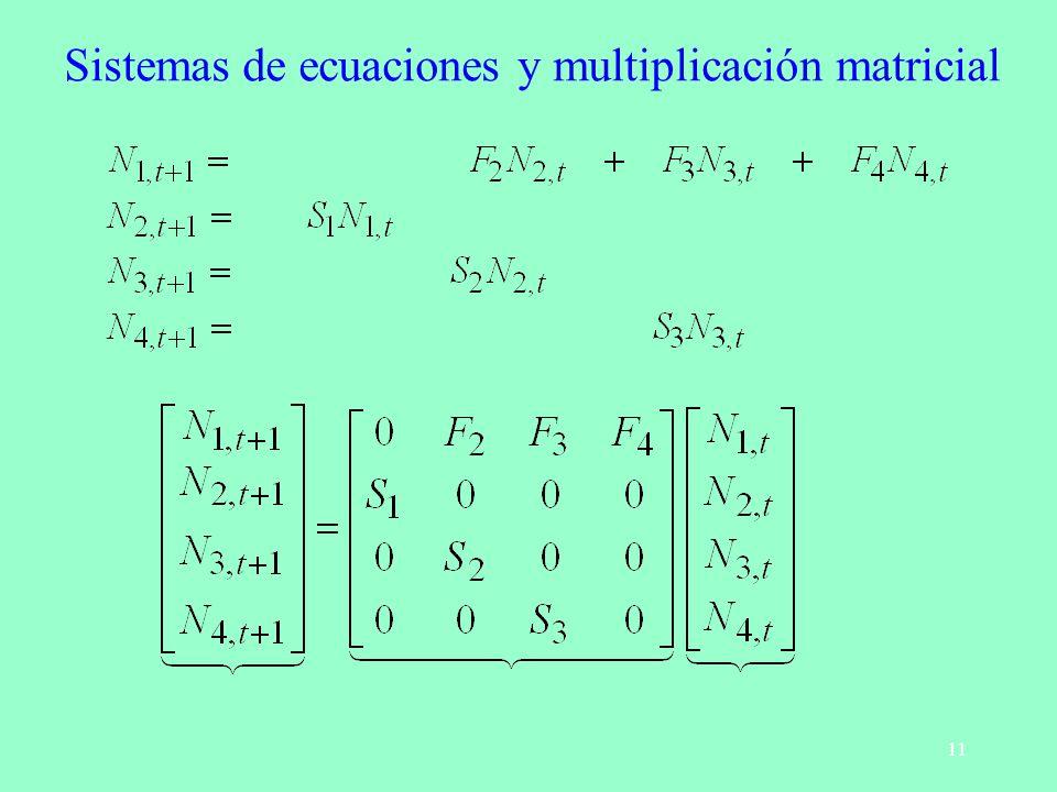 11 Sistemas de ecuaciones y multiplicación matricial