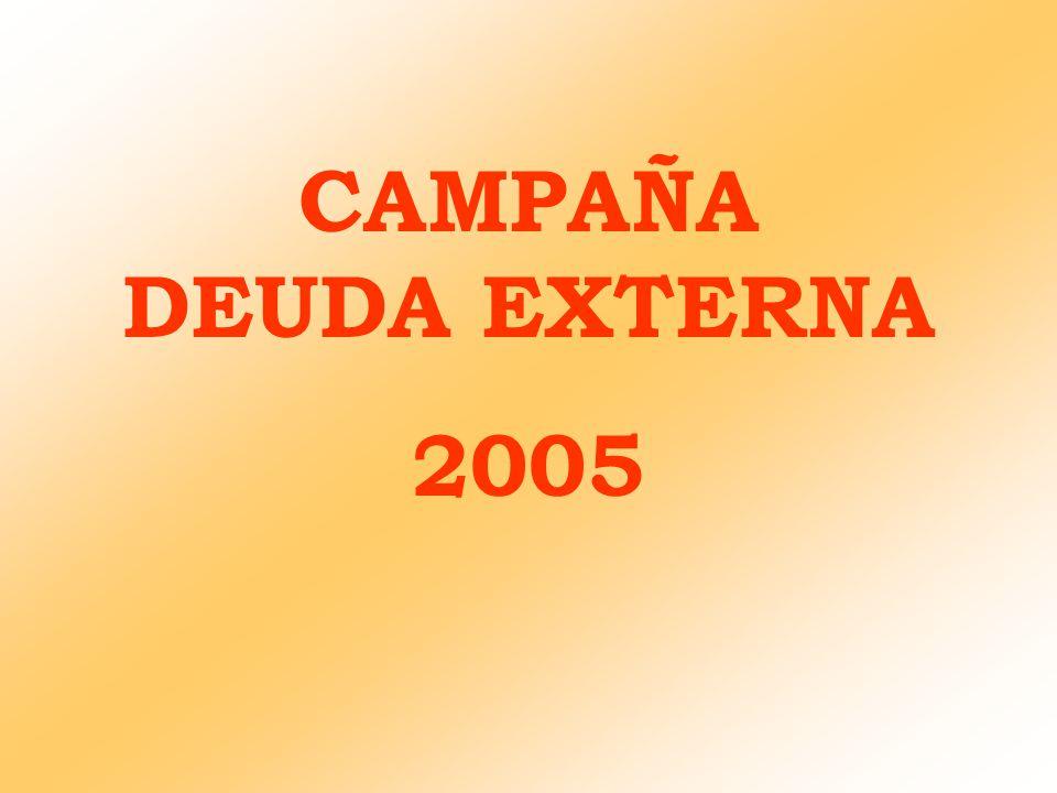 OBJETIVOS DE LA CAMPAÑA 1.Fomentar la participación ciudadana y trasladar la idea de corresponsabilidad, tanto en las causas de la deuda externa, como en la búsqueda de soluciones.