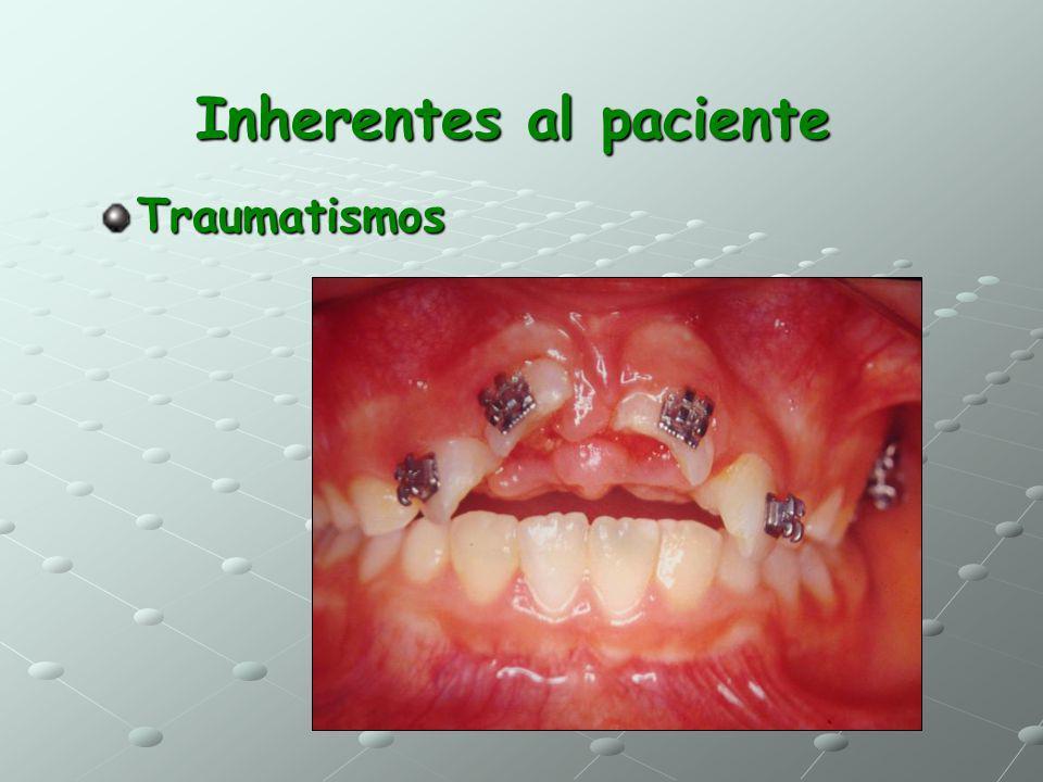 Inherentes al paciente Traumatismos