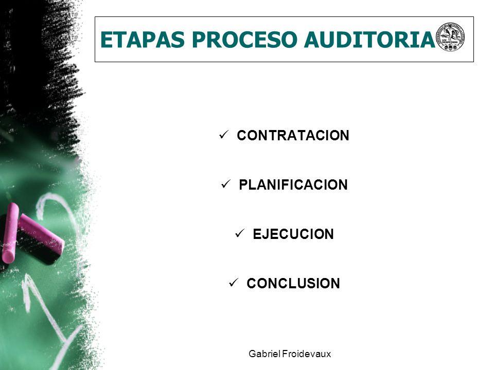 Gabriel Froidevaux ETAPAS PROCESO AUDITORIA CONTRATACION PLANIFICACION EJECUCION CONCLUSION