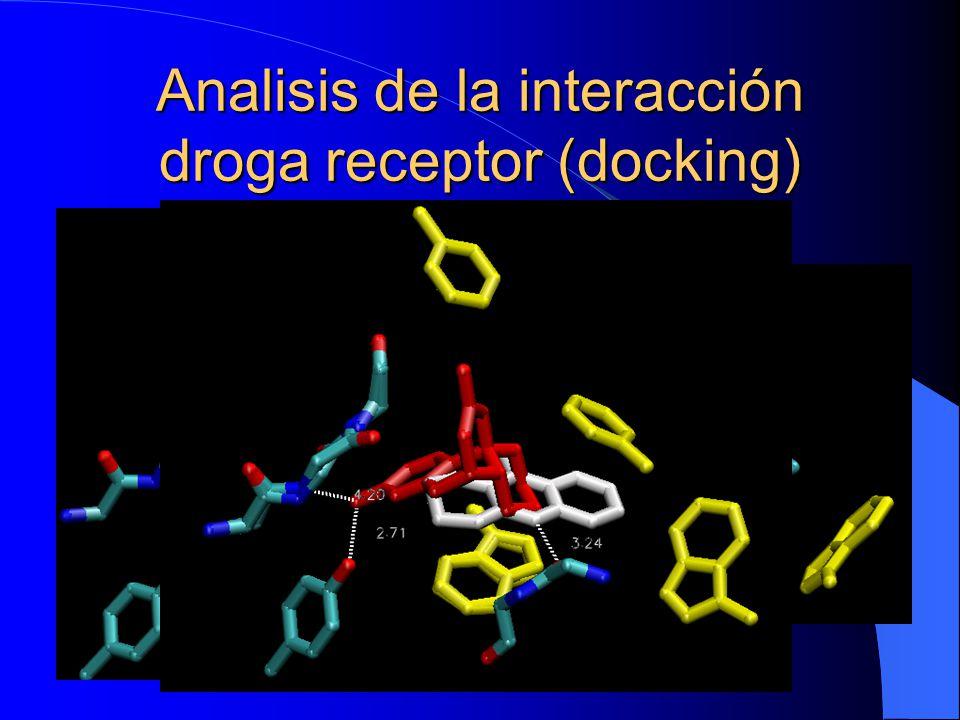 Analisis de la interacción droga receptor (docking)