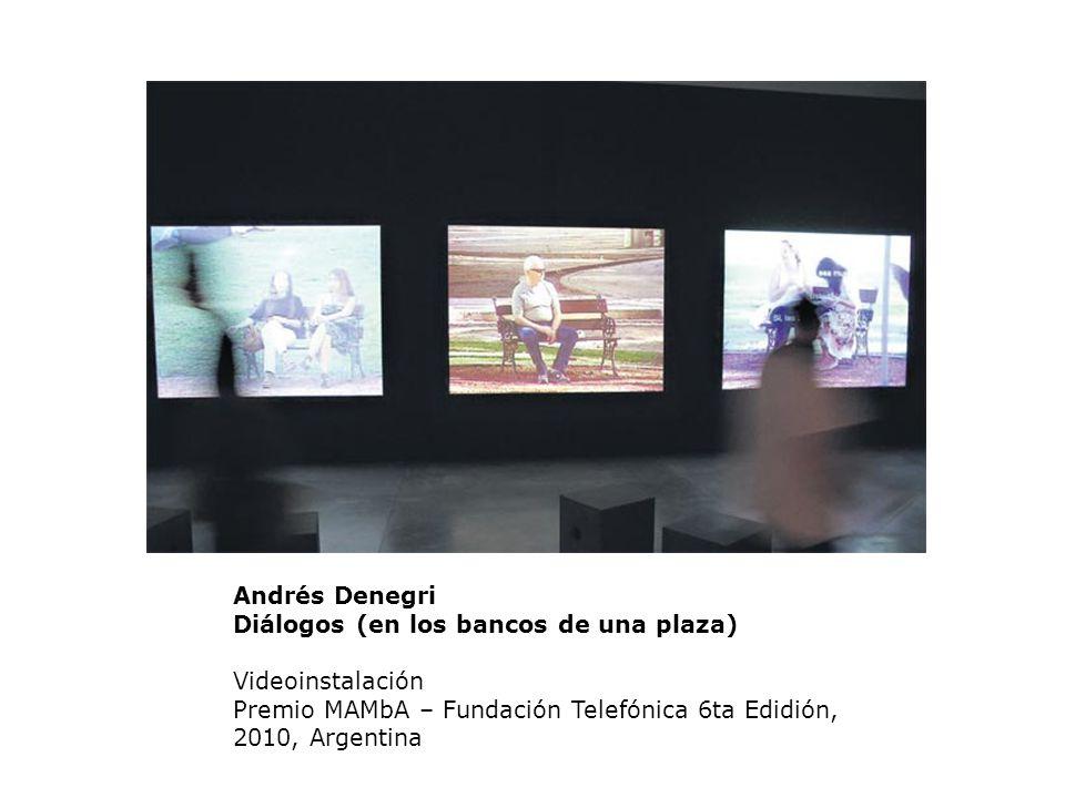 Andrés Denegri Diálogos (en los bancos de una plaza) Videoinstalación Premio MAMbA – Fundación Telefónica 6ta Edidión, 2010, Argentina