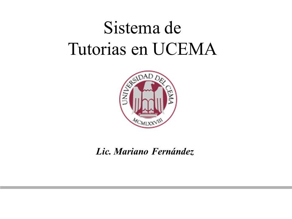 Sistema de Tutorias en UCEMA Lic. Mariano Fernández
