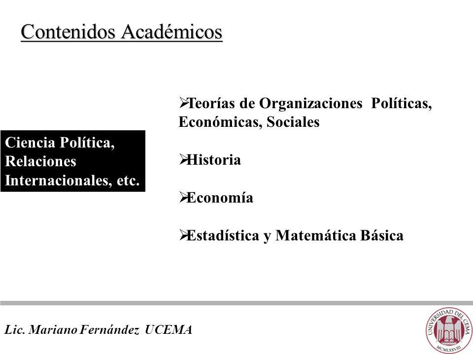 Contenidos Académicos Lic.