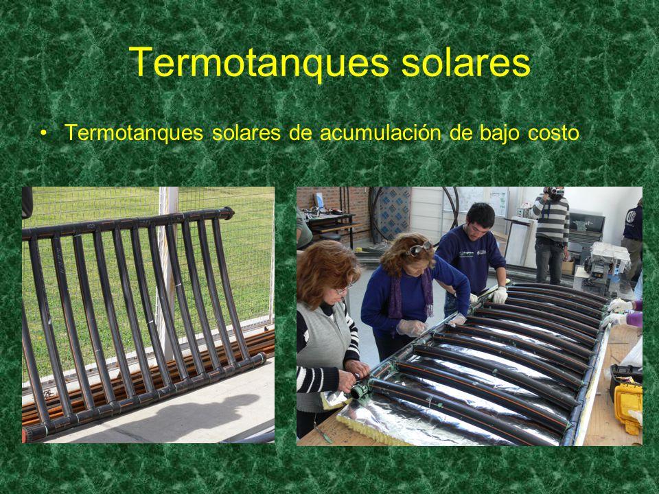Termotanques solares Termotanques solares de acumulación de bajo costo