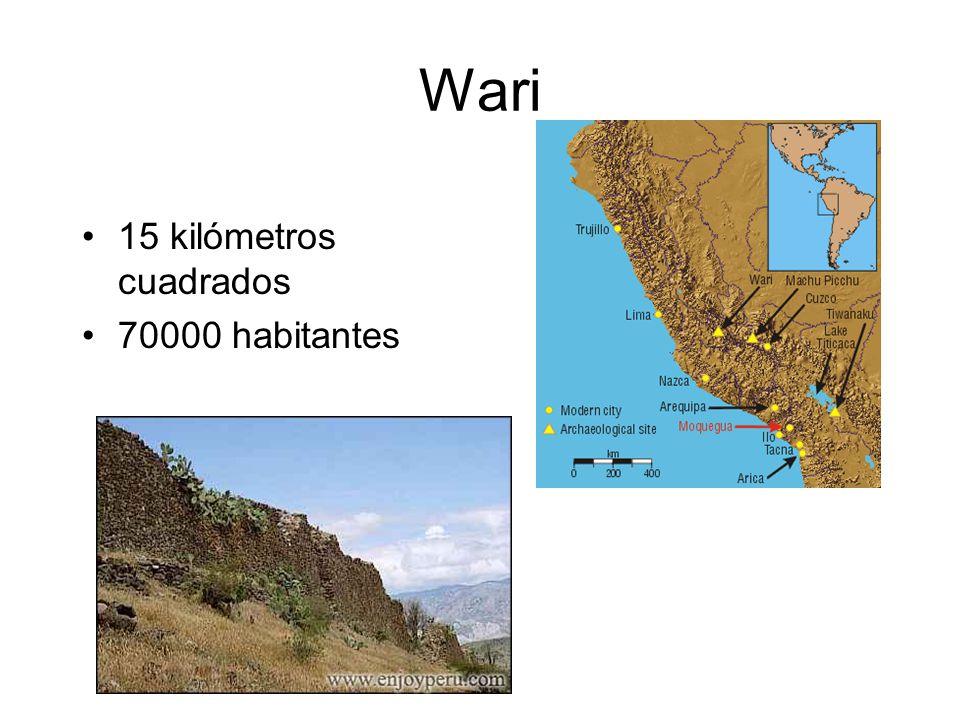 Wari 15 kilómetros cuadrados 70000 habitantes