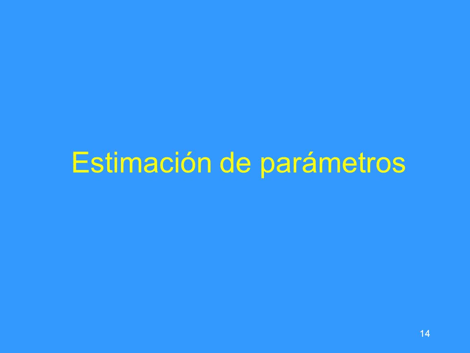 14 Estimación de parámetros