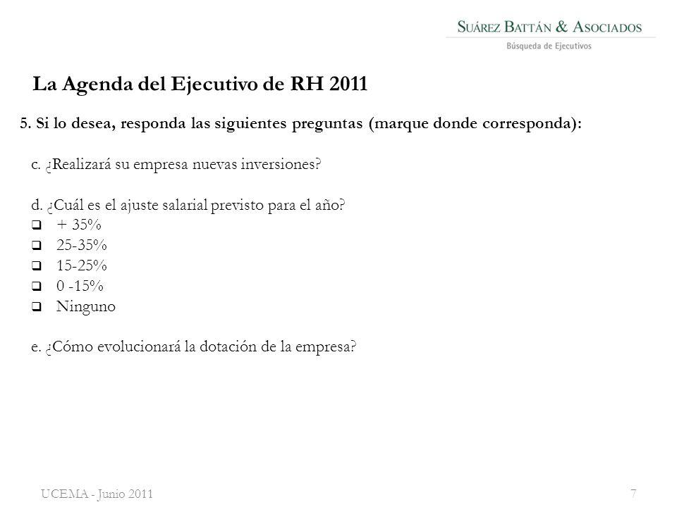 UCEMA - Junio 20117 c.¿Realizará su empresa nuevas inversiones.