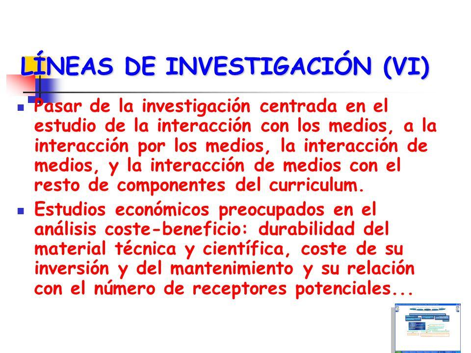 LÍNEAS DE INVESTIGACIÓN (VII) Funcionamiento cognitivo y afectivo de los estudiantes y profesores en los nuevos entornos de comunicación telemático.