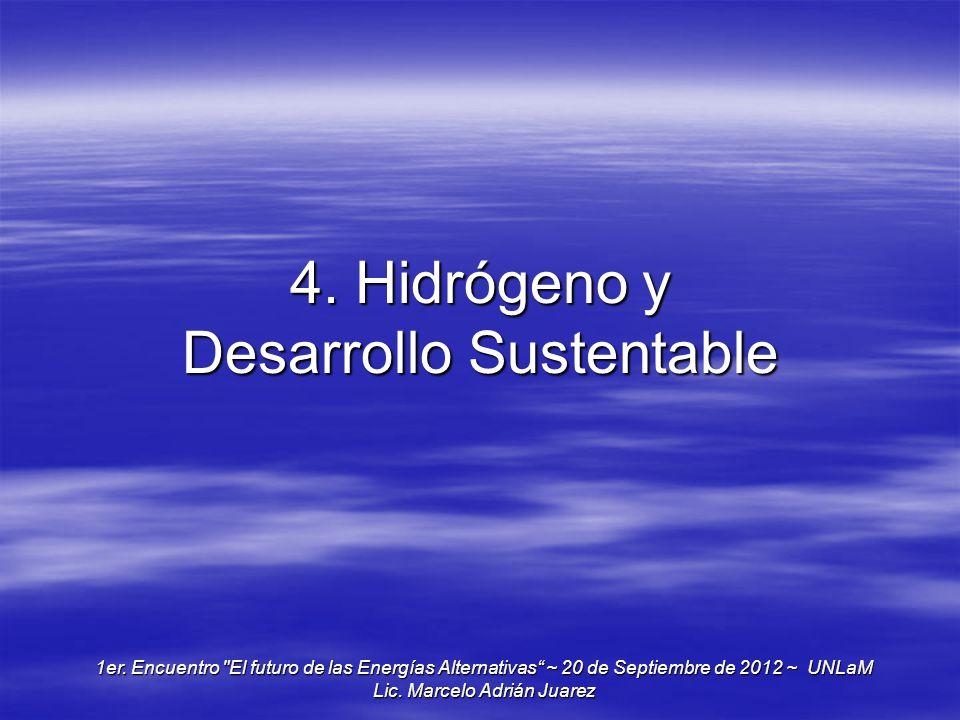 4. Hidrógeno y Desarrollo Sustentable 1er. Encuentro