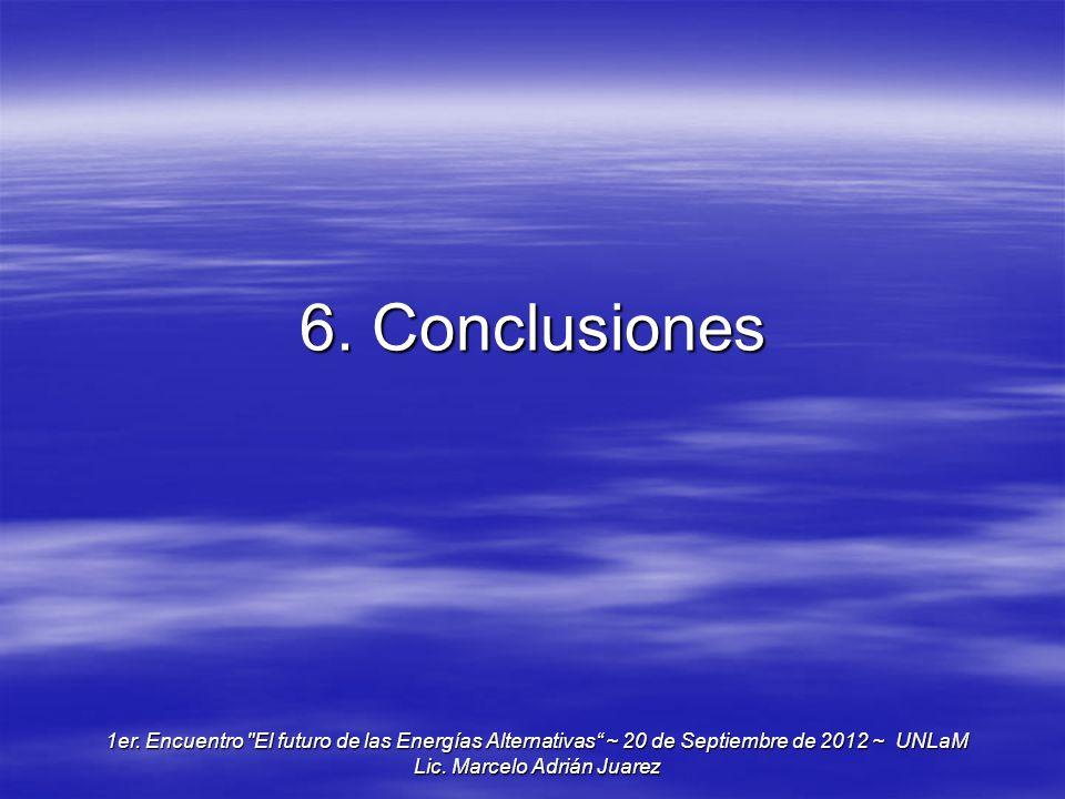 6. Conclusiones 1er. Encuentro