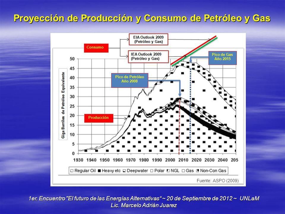 Proyección de Producción y Consumo de Petróleo y Gas 1er. Encuentro