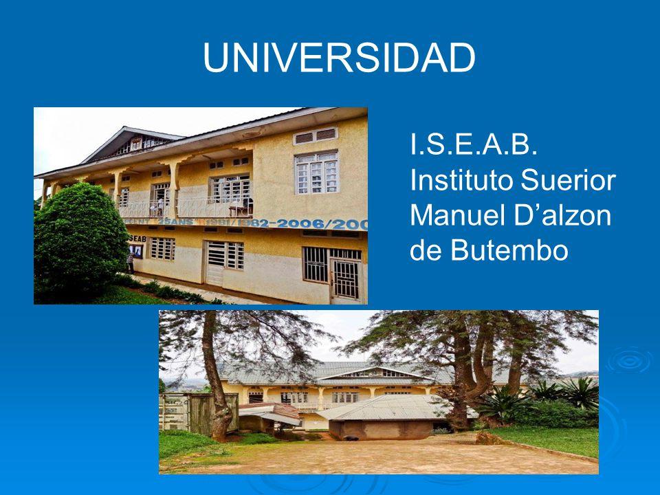UNIVERSIDAD I.S.E.A.B. Instituto Suerior Manuel Dalzon de Butembo