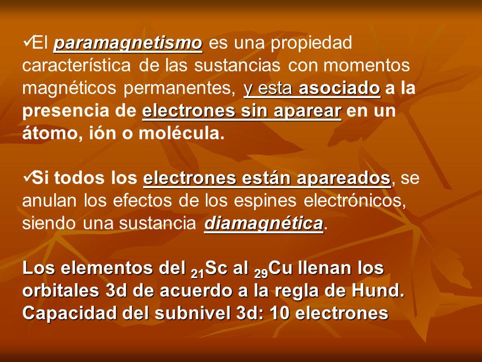 paramagnetismo y esta asociado electrones sin aparear El paramagnetismo es una propiedad característica de las sustancias con momentos magnéticos perm