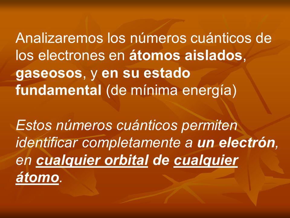 En átomos polielectrónicos: la energía requerida para quitar el 1º electrón del átomo gaseoso en su estado fundamental se denomina primera energía de ionizacion (I 1 ).