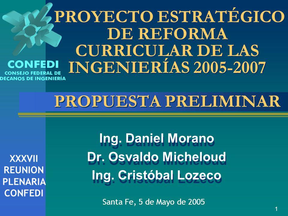 1 Ing.Daniel Morano Dr. Osvaldo Micheloud Ing. Cristóbal Lozeco Ing.