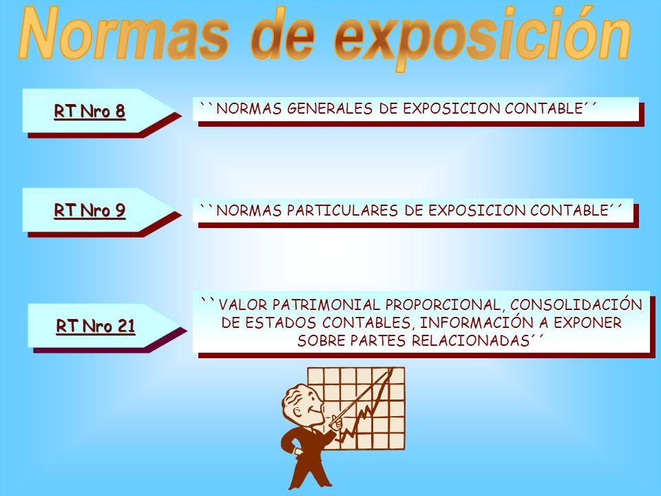 3.2 Exposición Respecto de la exposición de las partidas del rubro no existen cuestiones contables de gran complejidad, y las mismas serán expuestas c