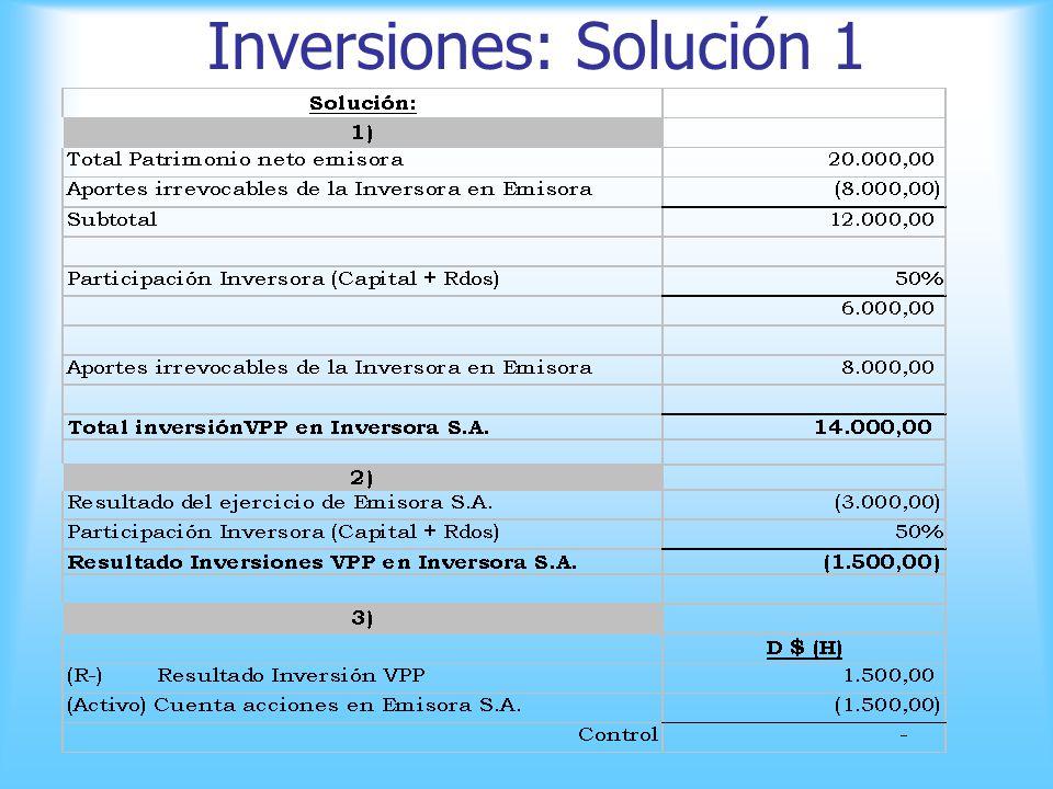 Inversiones: Ejercicio 1