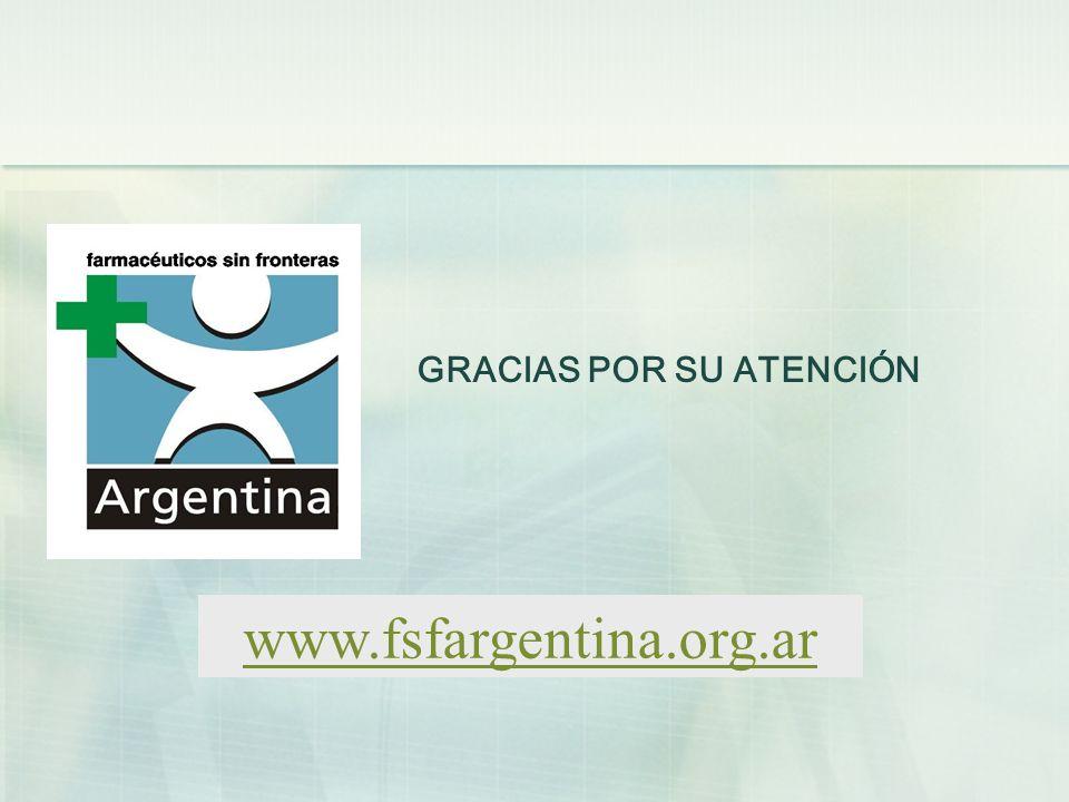GRACIAS POR SU ATENCIÓN www.fsfargentina.org.ar