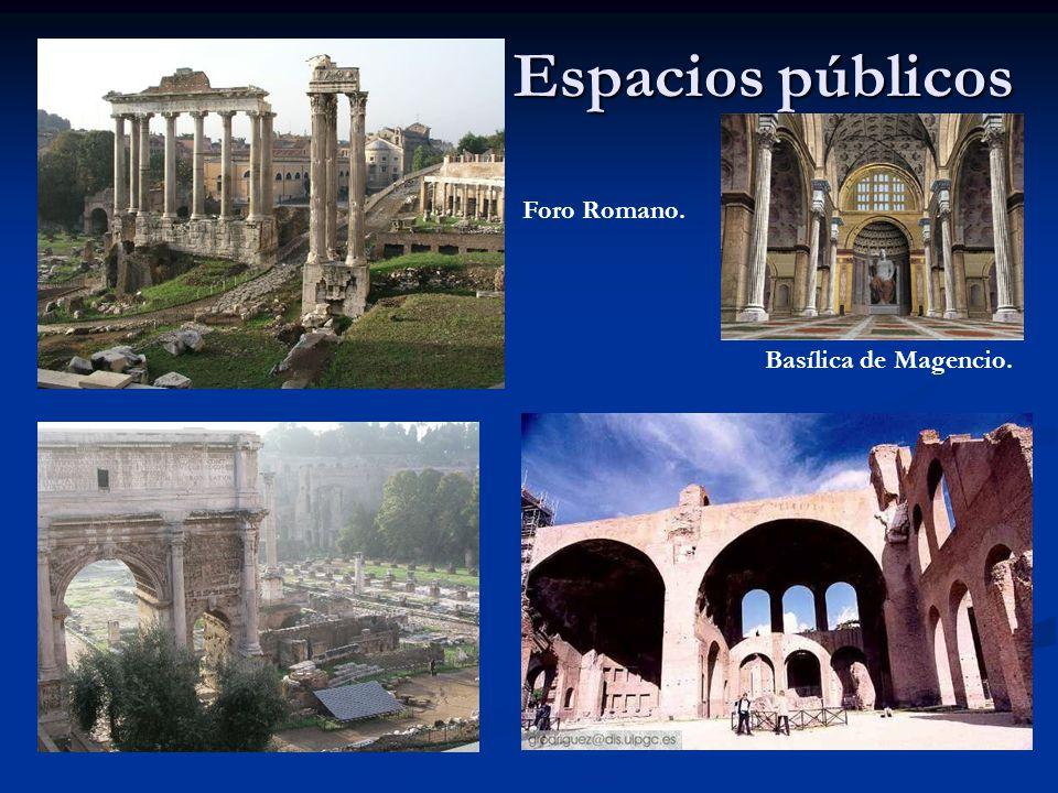 Espacios públicos Foro Romano. Basílica de Magencio.