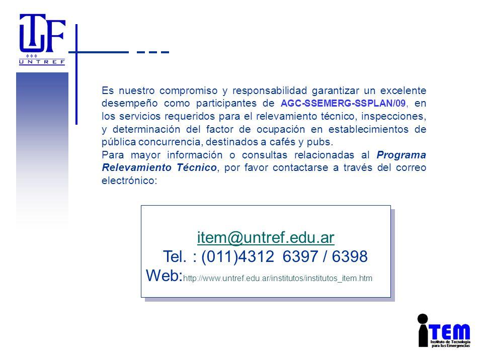 Es nuestro compromiso y responsabilidad garantizar un excelente desempeño como participantes de AGC-SSEMERG-SSPLAN/09, en los servicios requeridos par