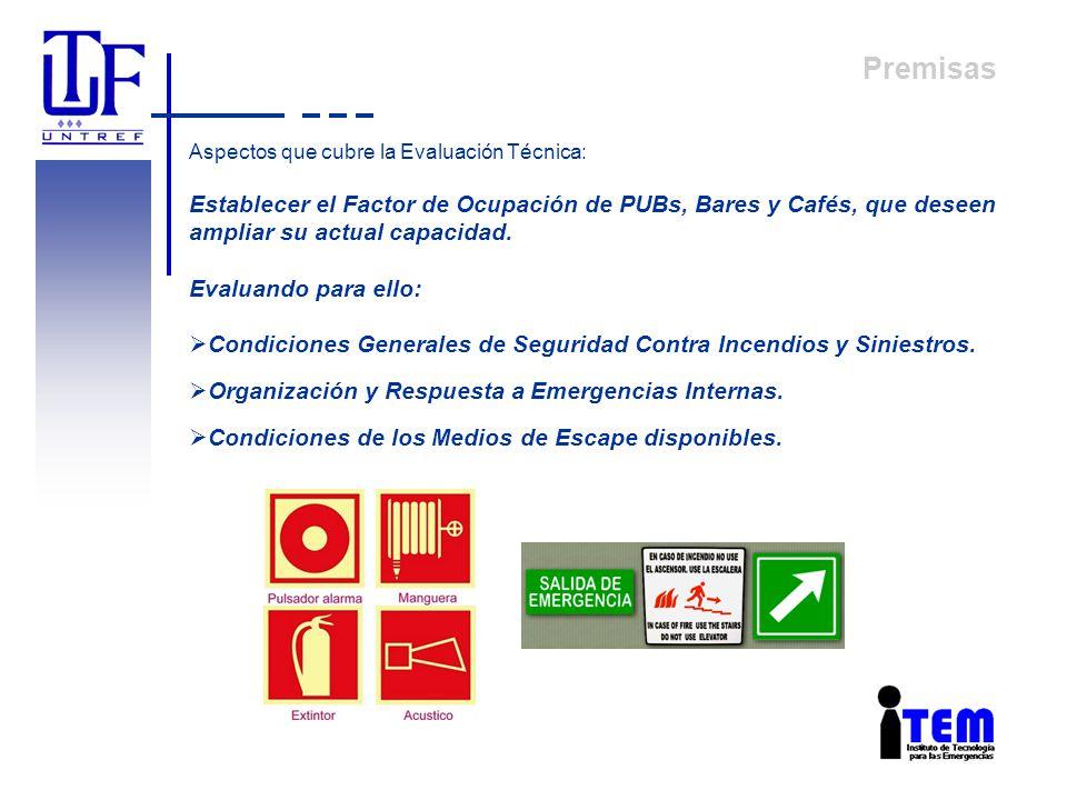 Objetivo INSPECCIONES TÉCNICAS: PROTECCIÓN PREVENTIVA PROTECCIÓN PASIVA PROTECCIÓN ACTIVA PROTECCIÓN HUMANA Y EVACUACIÓN EN LOCALES DE CONCURRENCIA PÚBLICA La Unidad de Servicios de Relevamiento Técnico de la UNTREF tiene como objetivo garantizar eficientemente el cumplimiento, en términos de seguridad, de todas las instalaciones de Pubs, bares y cafés, con la finalidad de determinar el factor de ocupación de dichos establecimientos.