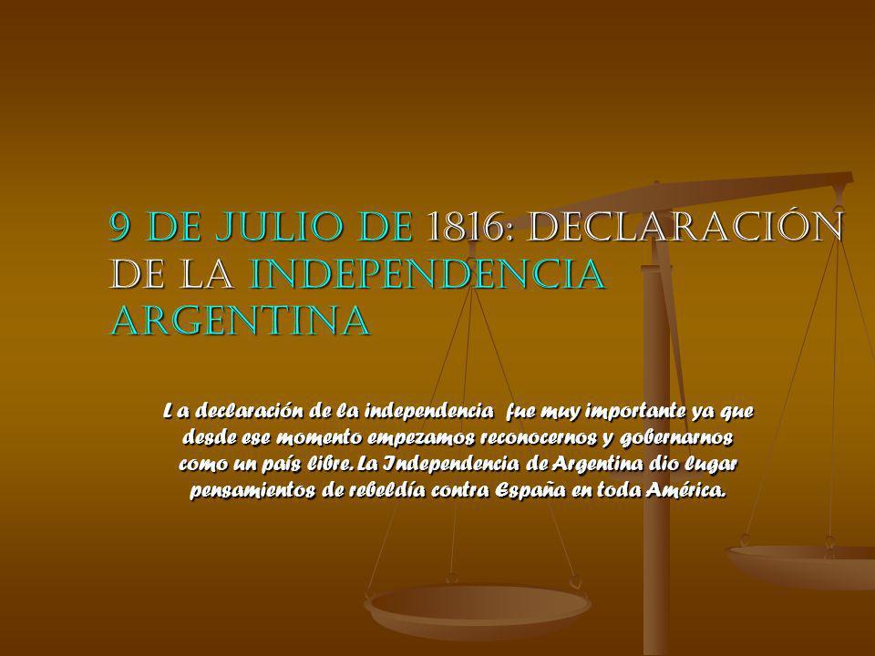 Independencia argentina: su historia Revolución de mayo Fue encabezada por la gente que estaba en el cabido que depuso al virrey español e instaló un gobierno patrio, la primera junta.