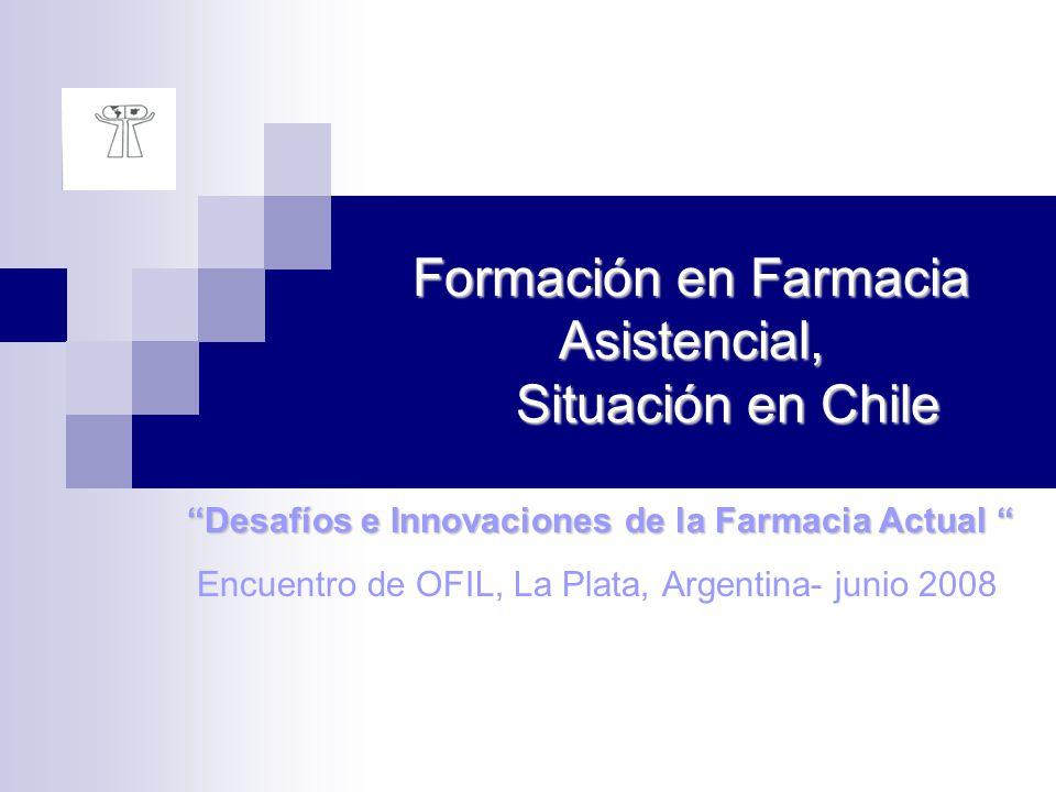 Formación en Farmacia Asistencial, Situación en Chile Desafíos e Innovaciones de la Farmacia Actual Desafíos e Innovaciones de la Farmacia Actual Encu