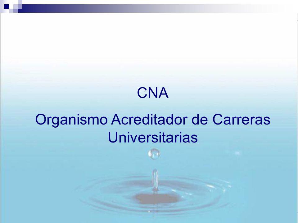 CNA Organismo Acreditador de Carreras Universitarias