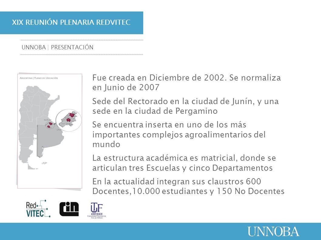 Fue creada en Diciembre de 2002. Se normaliza en Junio de 2007 Sede del Rectorado en la ciudad de Junín, y una sede en la ciudad de Pergamino Se encue