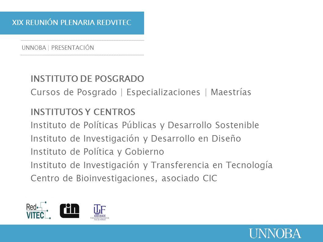 INSTITUTO DE POSGRADO Cursos de Posgrado | Especializaciones | Maestrías INSTITUTOS Y CENTROS Instituto de Políticas Públicas y Desarrollo Sostenible