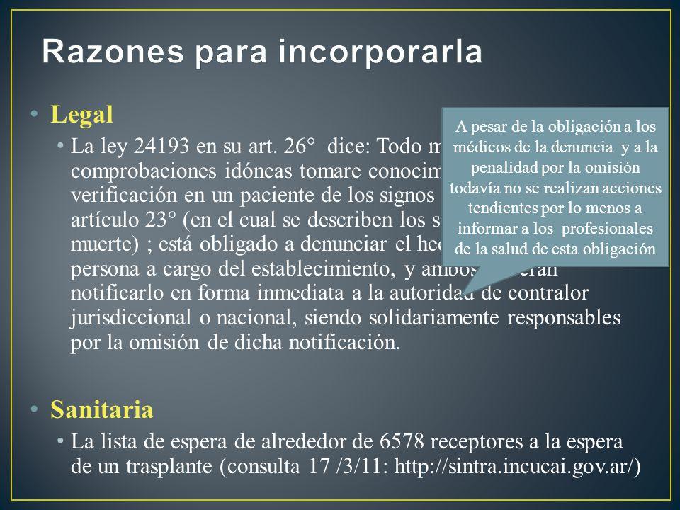 Desarrollar actividades de divulgación dirigidas a todo personal de salud y a la comunidad Difusión Concientizar sobre la trascendencia de la procuración Prevención primaria