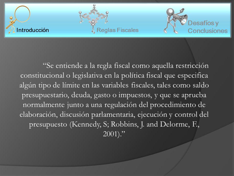 Reglas Fiscales Introducción Desafíos y Conclusiones Antecedentes Normativos Ley N° 24.156: Ley de Administración financiera y de los sistemas de control del sector público Nacional (1992).