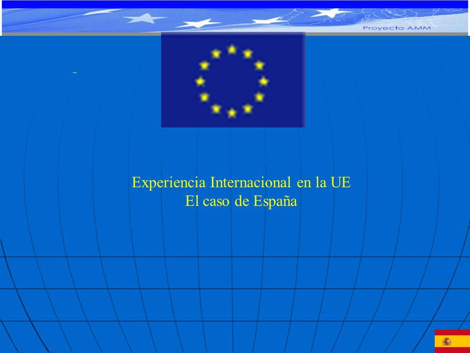Experiencia Internacional en la UE El caso de España PROYECTO DE COOPERACIÓN TÉCNICA Y FINANCIERA CE-MERCOSUR: APOYO AL MONITOREO MACROECONÓMICO