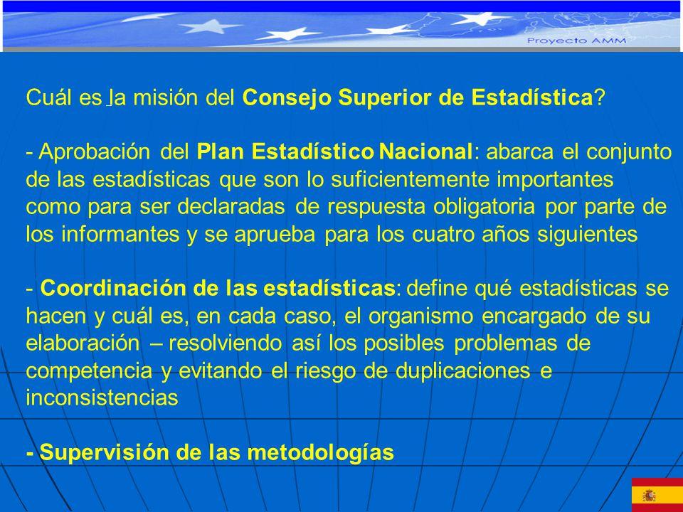 Cuál es la misión del Consejo Superior de Estadística.